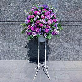 色指定1段スタンド花(紫)