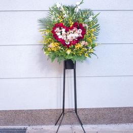 ハートスタンド花