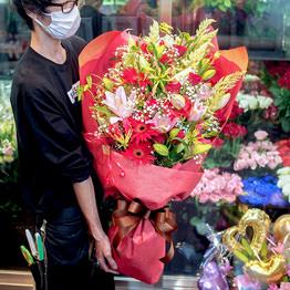 季節の花束(特大)ワンサイド