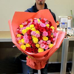 ミックスバラ100本花束