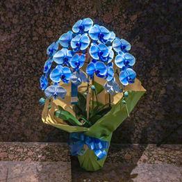 ブルー胡蝶蘭3本立ち