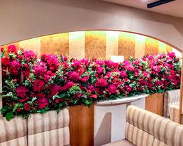壁面生花装飾