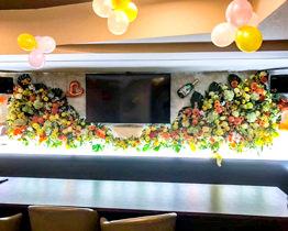 壁面生花&バルーン装飾