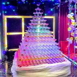 シャンパンタワー15段 四角形