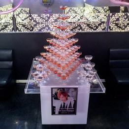 シャンパンタワー8段 三角形